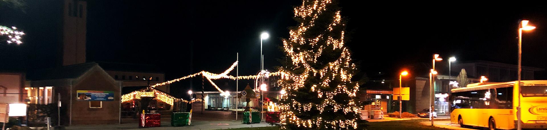 Weihnachtsbaum & Winterhütte