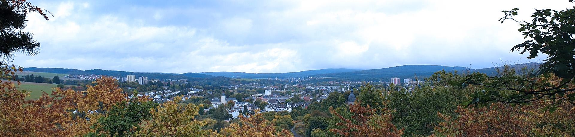 Panoramablick über Bleidenstadt, Hahn und Wehen