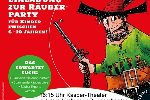 Flyer Kasper-Theater Stadtbücherei